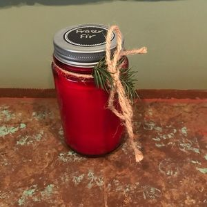 Homemade Never Burned Red Candle Pine Needle Smell